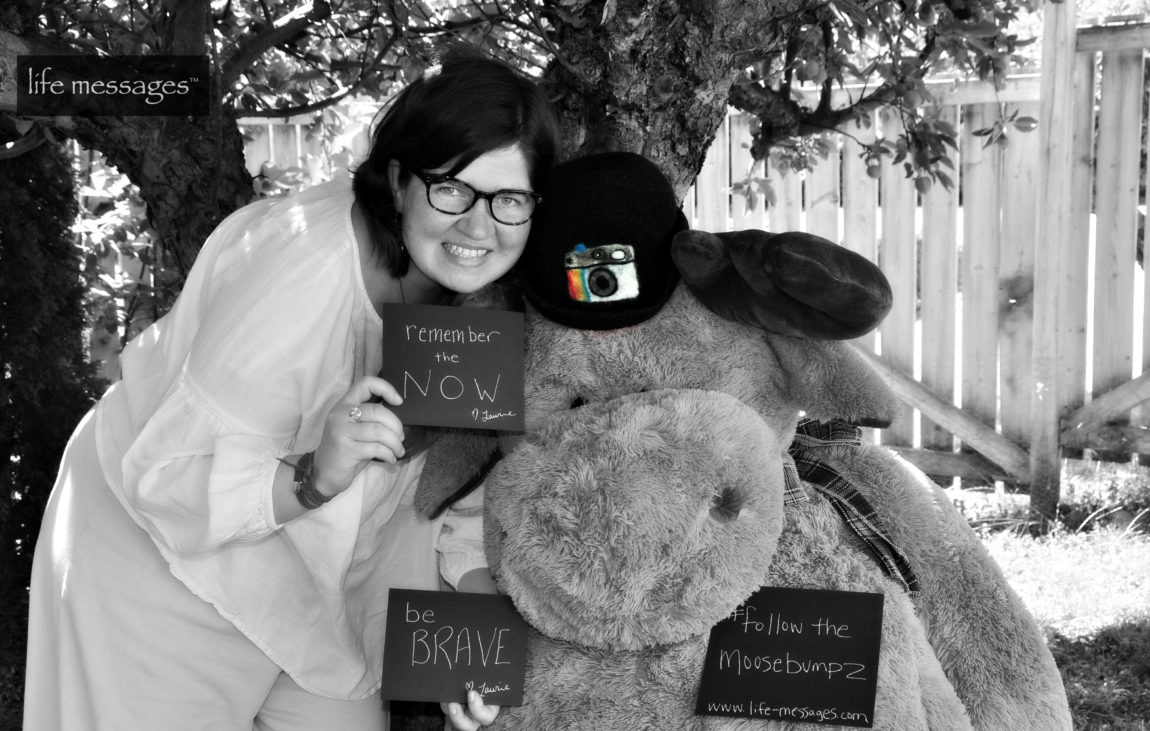 create a mini message and have your photo taken with mr. moosebumpz at the bookshelf bookstore in guelph!